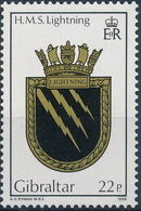 Gibraltar 1986 Royal Navy Crests 5th Group a