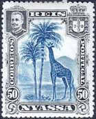 Nyassa Company 1901 D. Carlos I (Giraffe and Camels) g