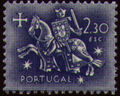 Portugal 1953 Definitives - Medieval Knight k.jpg