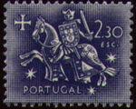 Portugal 1953 Definitives - Medieval Knight k