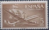 Spain 1955 Plane and Caravel (1st Group) e