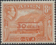 Aden 1951 King George VI Pictorials with New Values e