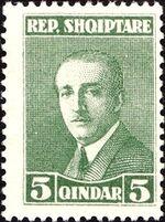 Albania 1925 President Ahmed Zogu c