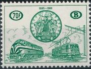 Belgium 1960 75th Anniversary of the National Railway Conferences d