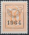 Belgium 1964 Heraldic Lion with Precancellations c