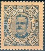 Cape Verde 1893-1895 Carlos I of Portugal m
