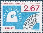 France 1986 Months of the Year - Pre-cancelled (2nd Issue) d