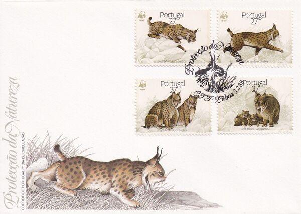 Portugal 1988 WWF Iberian Lynx (Lynx pardina) FDCa