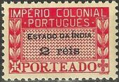 Portuguese India 1945 Portuguese Colonial Empire (Postage Due Stamps) a