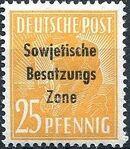 Russian Zone 1948 Overprint - Sowjetische Besatzungs Zone j