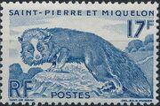 St Pierre et Miquelon 1952 Silver Fox (Definitives) b