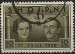 Albania 1938 Wedding of King Zog I d