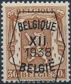 Belgium 1938 Coat of Arms - Precancel (12th Group) d