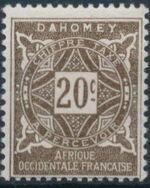 Dahomey 1914 Numerals d