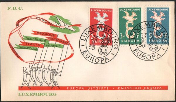 Luxembourg 1958 Europa p