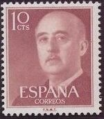 Spain 1955 General Franco a