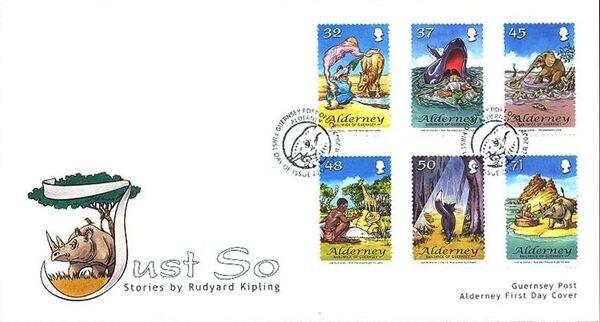 Alderney 2007 Rudyard Kipling's Just So Stories FDCa