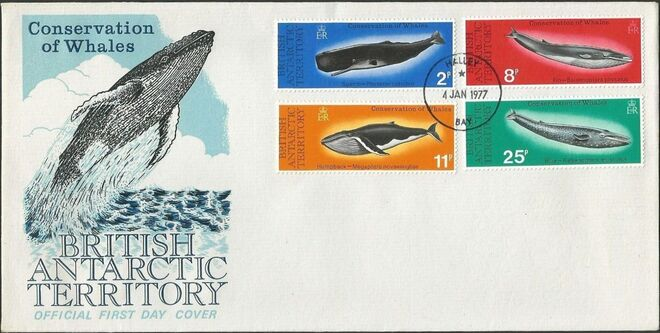 British Antarctic Territory 1977 Conservation of whales e