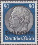 German Occupation-Lothringen 1940 Stamps of Germany (1933-1936) Overprinted in Black o