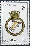Gibraltar 1982 Royal Navy Crests 1st Group a