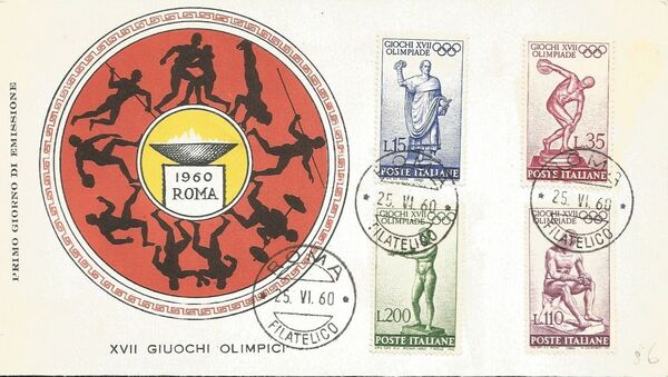 Italy 1960 Olympic Games Rome FDCc