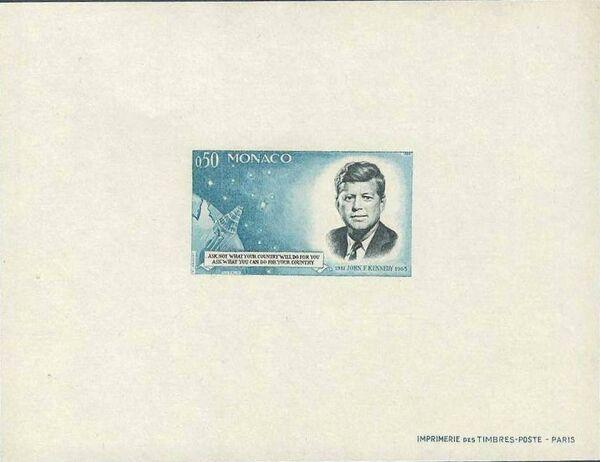 Monaco 1964 Pres. John F. Kennedy and Mercury Capsule g
