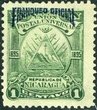 Nicaragua 1895 Official Stamps Overprinted in Blue a