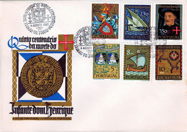 Portugal 1960 500th Anniversary of the Death of Prince Henrique the Sailor FDCa