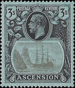 Ascension 1924 Seal of the Colony lb