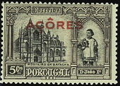Azores 1926 1st Independence Issue Overprinted d
