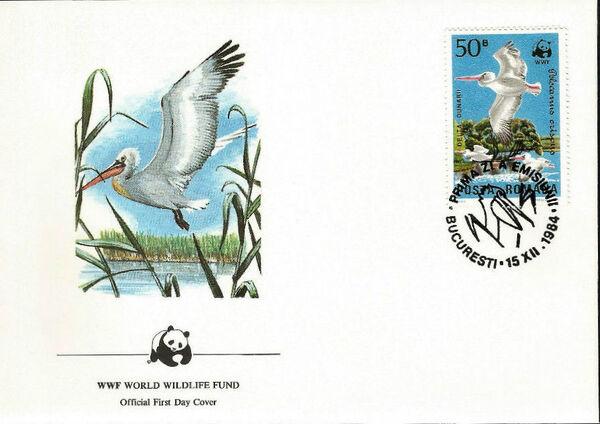 Romania 1984 WWF - Pelicans of the Danube Delta FDCa