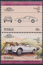 Tuvalu 1984 Leaders of the World - Auto 100 (1st Group) b
