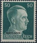 German Occupation-Russia Ostland 1941 Stamps of German Reich Overprinted in Black p