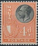 Malta 1926 King George V and Coat of Arms h