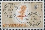 St Vincent 1979 Cancellations and Location of Village f
