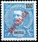 Angola 1914 D. Carlos I Overprinted e