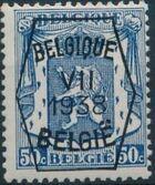 Belgium 1938 Coat of Arms - Precancel (7th Group) f
