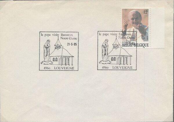 Belgium 1985 Visit of Pope John Paul II FDCt
