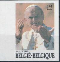 Belgium 1985 Visit of Pope John Paul II b