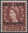 British Offices in Tangier 1957 Centenary Overprint (1857-1957) d