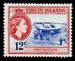British Virgin Islands 1956 Queen Elizabeth II and Views h