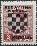 Croatia 1941 Peter II of Yugoslavia Overprinted in Black f