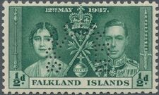 Falkland Islands 1937 George VI Coronation SPa