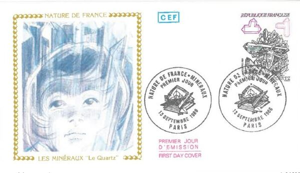 France 1986 Minerals FDCn