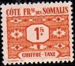 French Somali Coast 1947 Postage Due Stamps d