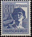 Germany-Allied Occupation 1947 2nd Allied Control Council Issue k