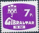 Gibraltar 1976 Postage Due Stamps d