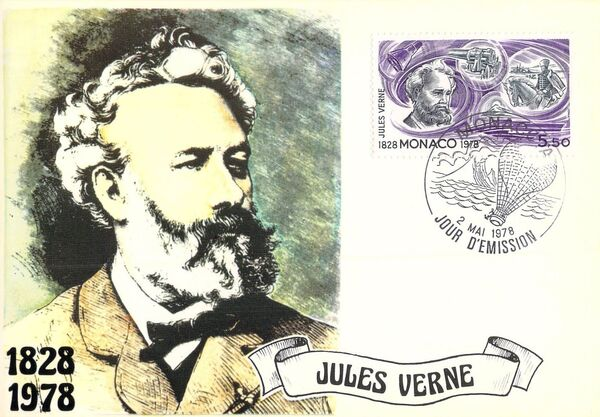 Monaco 1978 Birth Sesquicentennial of Jules Verne MCh