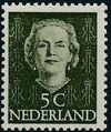 Netherlands 1949 Queen Juliana - En Face (1st Group) a