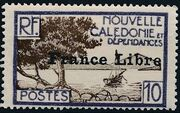 "New Caledonia 1941 Definitives of 1928 Overprinted in black ""France Libre"" f"